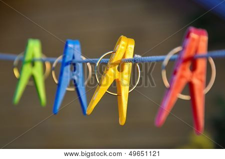Color clothespins