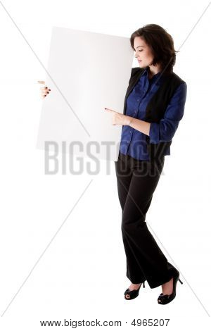Young Business Woman With White Board