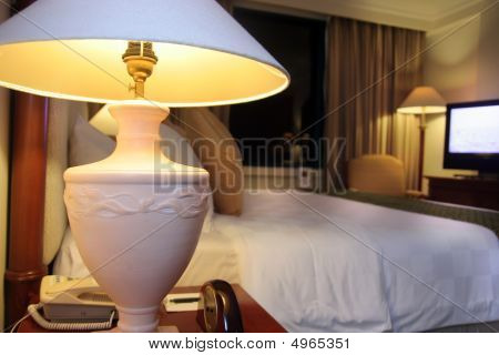 Photograph Of Room Setup In Five Star Hotel