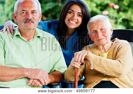 Nurse With Elderly People