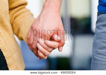 Holding Elder, Senior Hands