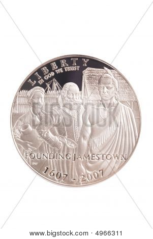 2007 Jamestown Commemorative Silver Us Dollar