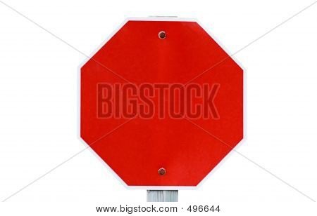Empty Stop Sign