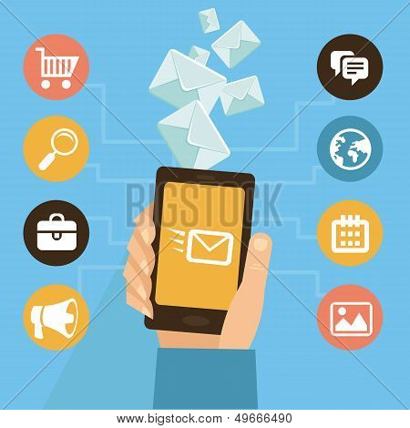 Vector Mobile App - Eamil Marketing And Promotion