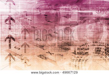 A Finance Spreadsheet Tech Graph Art Background