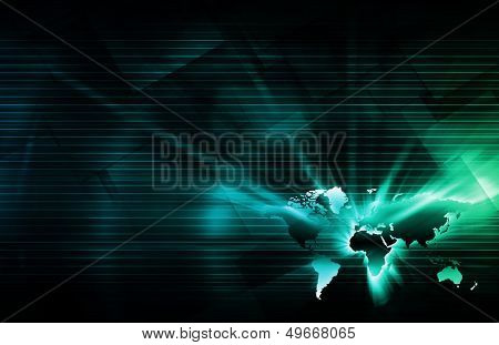 Abstract World Technology Business as a Background