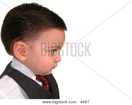 Little Business Man Looking
