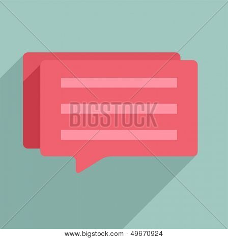minimalistic illustration of a dialog box