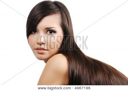Girl With Long Brown Hairs