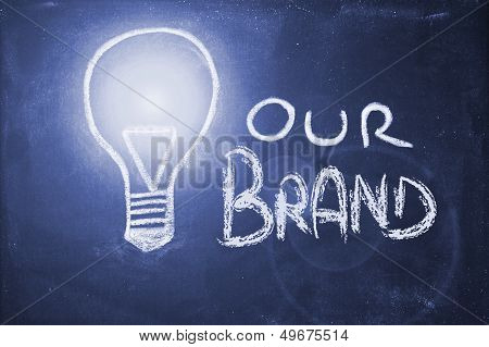 Chalk Design With Lightbulb,brand Uniqueness