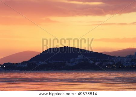 Sea Sunset Over Split, Croatia