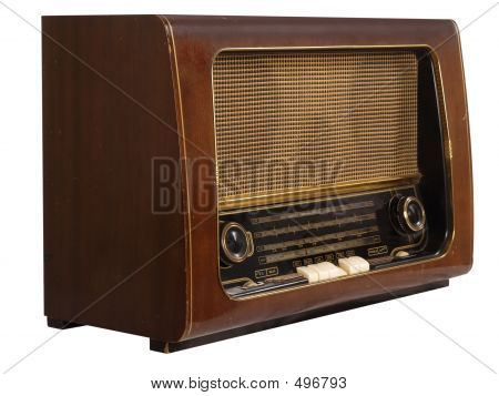 Radio viejo (aislada)