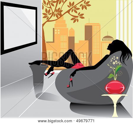 woman relaxation in a chair