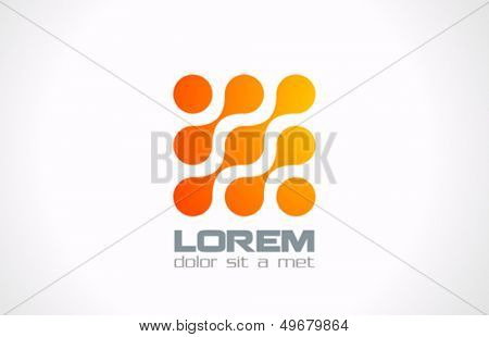 Abstract Technology vector logo design template. Molecule, nanotechnology, dna theme. Creative concept icon. Corporate company identity.
