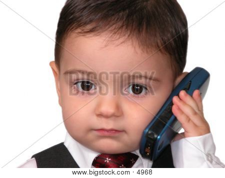 Toddler Cellphone Call