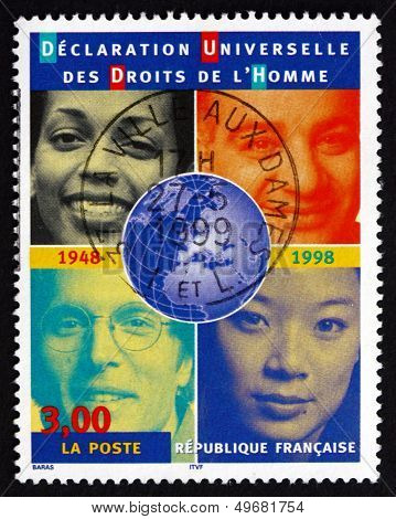 Postage Stamp France 1998 People Of Various Races