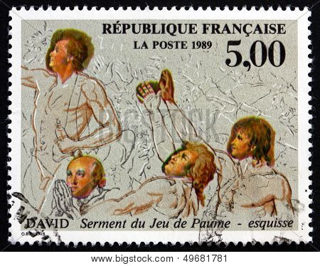 Postage Stamp France 1989 Oath Of The Tennis Court, By David