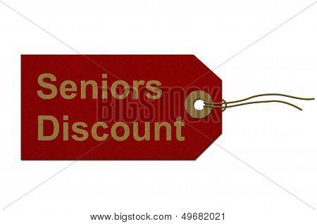 Seniors Discount Tag