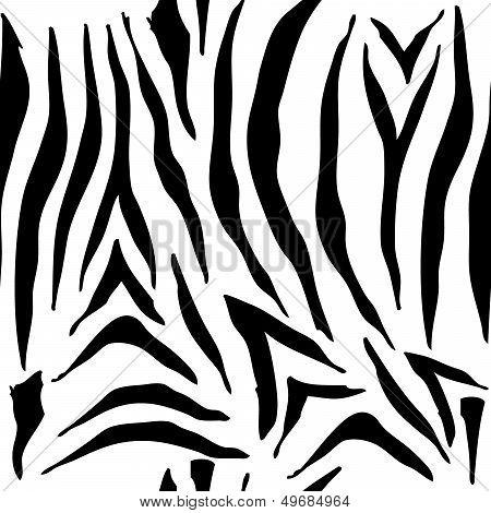 Seamless Zebra Pattern