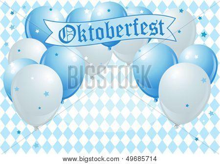 Oktoberfest Celebration Background with Copy Balloons