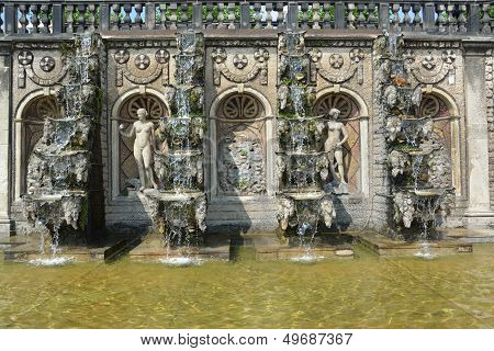 Grand Cascade In The Herrenhausen Gardens, Baroque Gardens, Established On Behalf Of Princess Sophie