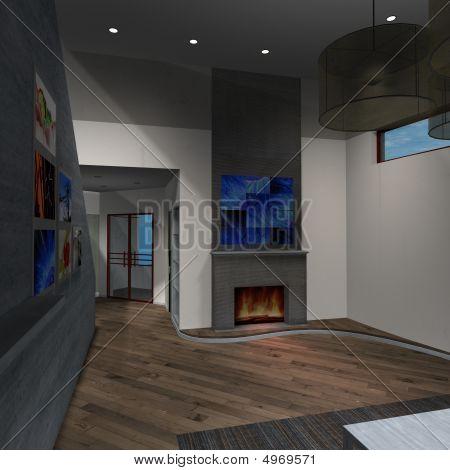 Modern House-livingroom