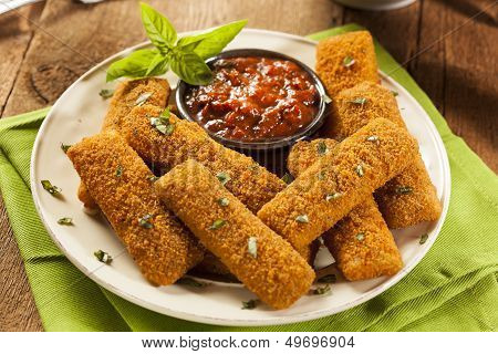 Homemade Fried Mozzarella Sticks