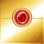 image of rakhi  - stylish golden rakhi background with space for your text - JPG