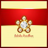 stock photo of rakhi  - beautiful golden rakhi for hindu rakshabandhan festival - JPG