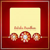 picture of rakhi  - beautiful golden rakhi for hindu rakshabandhan festival - JPG