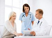 stock photo of physiotherapist  - healthcare - JPG