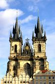 famous cathedral in Prague centrum