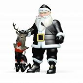 stock photo of humbug  - Santa In Black  - JPG