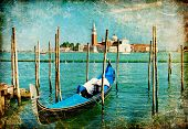Venice - great italian landmarks vintage series poster
