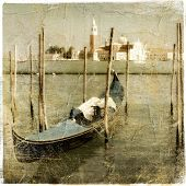 Venice - great italian landmarks vintage series - Grand channel poster