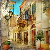 pic of greek-architecture  - old pictorial streets of Greece  - JPG