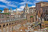 greatest italian landmarks series - Roman Forums poster