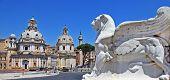 Roman landmarks, Piazza Venezia poster