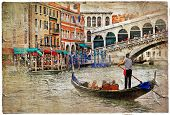picture of gondolier  - beautiful Venice  - JPG