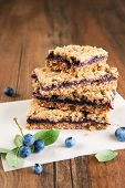 Blueberry oat crumb bars