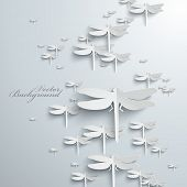image of dragonflies  - Abstract 3D Dragonflies Design - JPG
