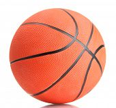 stock photo of basketball  - Basketball isolated on white - JPG