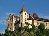 stock photo of glans  - Part of the medieval Castle Eberstein - JPG