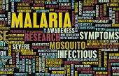 stock photo of malaria parasite  - Malaria Disease Concept as a Medical Condition Art - JPG