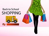 stock photo of patron  - Back to school shopping - JPG