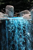 picture of gushing  - a scenic Blue Fountain Gushing in the mountain - JPG