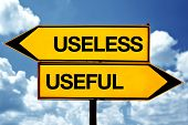 picture of opposites  - Useless or useful opposite signs - JPG