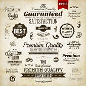 Retro elements collection for calligraphic designs | Vintage ornaments | Premium Quality labels | Gu
