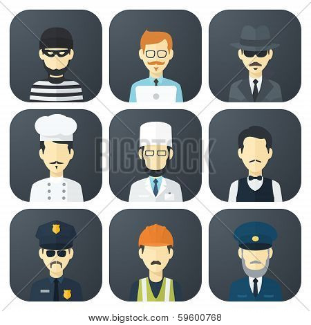 Occupations Icons Set