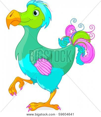 Illustration of cute Dodo bird